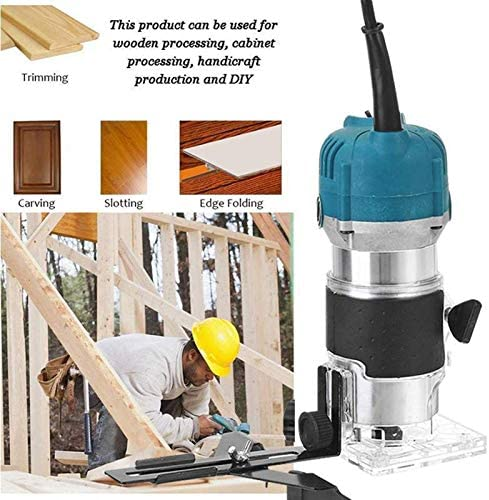 3000W Wood Electric Hand Trimmer 220V Woodworking Engraving Slotting Trimming Hand Carving Machine Wood Router Joiners Set