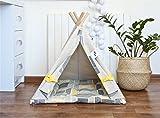 Happy Teepee dog teepee tent with cushion, dog teepee, dog bed, pet teepee tent, cat teepee, cat bed, cat teepee tent