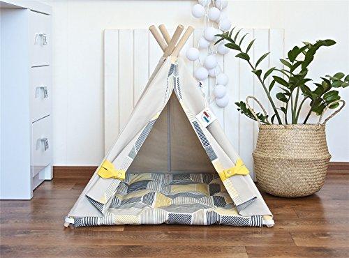 Happy Teepee dog teepee tent with cushion, dog teepee, dog bed, pet teepee tent, cat teepee, cat bed, cat teepee tent by Happy Teepee
