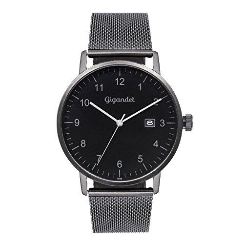 Gigandet Men's Quartz Watch Minimalism Analog Stainless Steel Bracelet Black G26-007