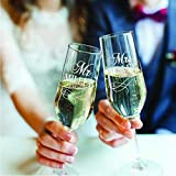 Set of 2, Personalized Mr Mrs Wedding Champagne