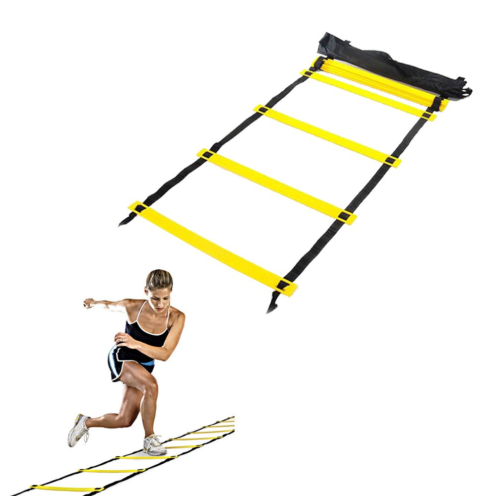 Enshey Agility Ladder Training Ladder Speed Training Ladder (12 feet 8 rung) Workouts Power Equipment for Soccer Football Tennis Crossfit with Carry Bag