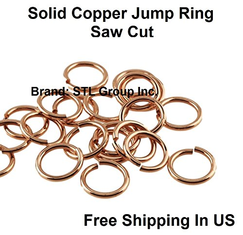 18 Ga Solid Copper Round Open Jump Ring - 6 MM O/D ( 1 OZ - Pack Of 280 ) -  STL, 18G-6M-1Z