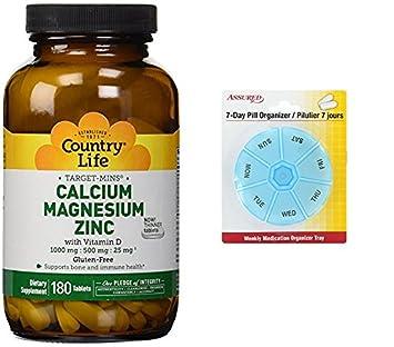 Vida de país destino minutos calcio magnesio Zinc con vitamina D, 180 tableta con gratis