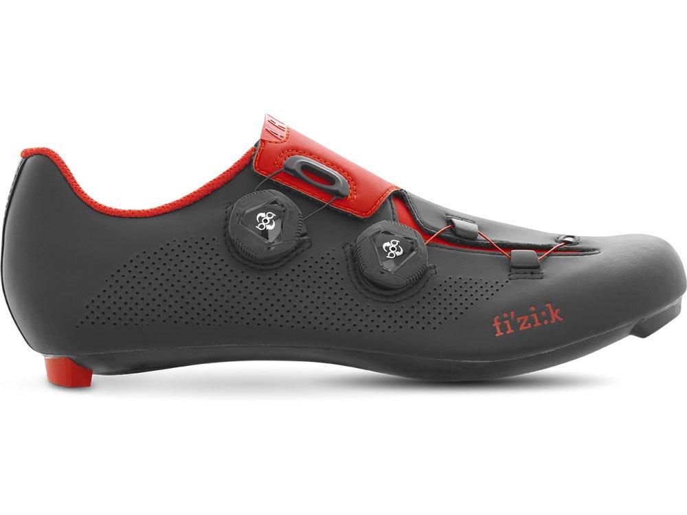 FIZIK(フィジーク) SHOES ARIA R3 <ブラック/レッド> ロードシューズ B07727215S 39.5(25.35cm)