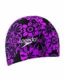 Speedo Lycra Solid Swim Cap, Black/Pink