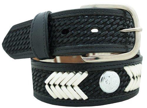 Hand Laced Basketweave Belt 1 1/2