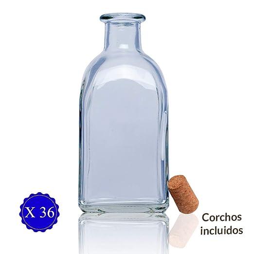 Frascas Botella vidrio+tapon de corcho/botellitas de Cristal con ...