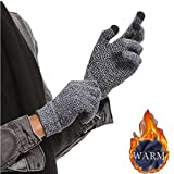 Winter Men Knitted Gloves Touched Screen Male Thicken Warm Wool Cashmere Unisex Gloves Mitten Business