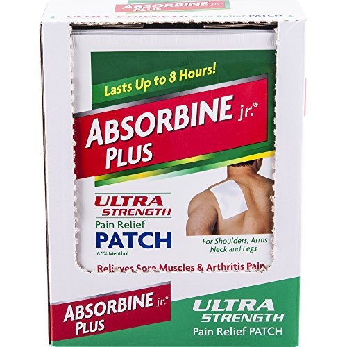 Pain Patch Back (Absorbine Jr. Ultra Strength Pain Relief Patch | Relieves Sore Muscles and Arthritis Pain | up to 8 Hours of Pain Relief | Non-Greasy | 18 Count)