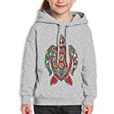 GLSEY Turtle Body Flowers Pattern Youth Soft Casual Long-Sleeved Hoodies Sweatshirts