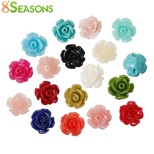 Calvas Created Coral Spacer Beads Rose Flower About 9mm x 8mm,Hole:Approx 1.3mm,50PCs