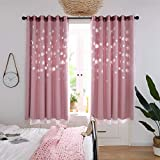 Best Norbi Curtains For Living Rooms - Norbi 1pcs Pink Snowflake Curtain for Girl's Room Review