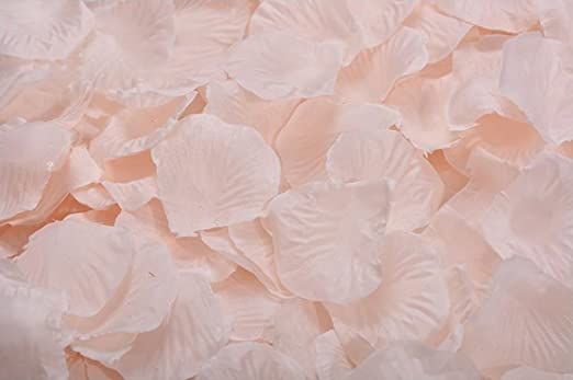 100 White Girls Heart Shapd Fabric Petal Wedding Supplies Table Bed decor Basket