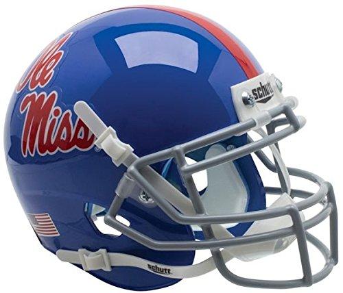 OLE MISS REBELS Schutt AiR XP Full-Size REPLICA Football Helmet MISSISSIPPI (1984-1994 THROWBACK)