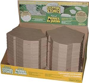Emsco Group 2168 Natural Interlocking Stepping Stones Sandstone - 24 Pack