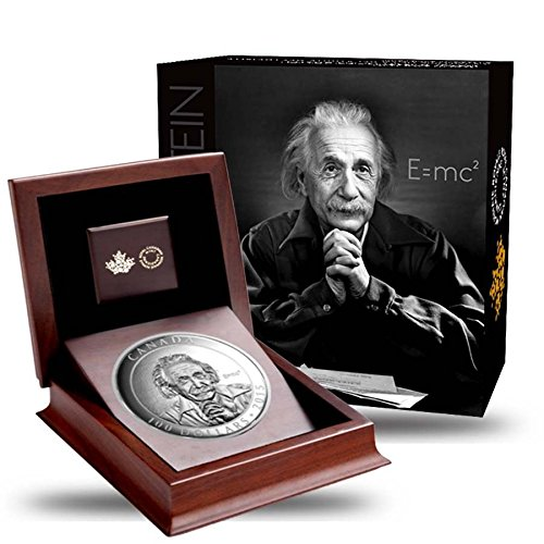 2015 CA Canada 2015 10 oz Royal Canadian Mint $100 Albert Einstein Silver Coin - Mintage 1,500 $100 CAD Proof DCAM