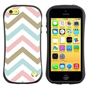 LASTONE PHONE CASE / Suave Silicona Caso Carcasa de Caucho Funda para Apple Iphone 5C / Pink Gold Baby Blue White Pattern
