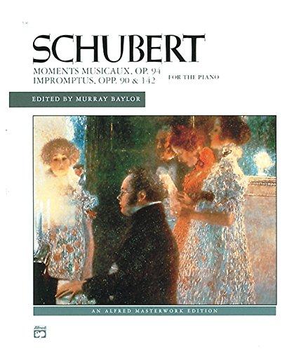 Schubert -- Impromptus, Opp. 90, 142, & Moments Musicaux, Op. 94 (Alfred Masterwork Edition) (Piano Music Schubert Sheet)
