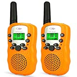 Tisy Toys for 7-8 Year Old Boys, Walkie Talkies for kids Girl Toys Age 3-12 Gifts for 3-12 Year Old Girls PMR446MHz 8 Channels Orange TsUKDJT05