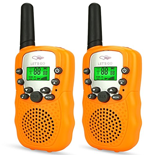 Age 3-12, Stocking Stuffer Fillers Walkies Talkies for Kids Boys Fun Popular Gifts for 3-12 Year Old Boys Outdoor Christmas Brithday New Gifts Toys for Kids Boys Orange DJ82 ()