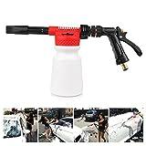Powstro Car Cleaning Foam Gun Multifunctional Washing Foamaster Gun Water Soap Shampoo Sprayer 900ml for Van Motorcycle Vehicle