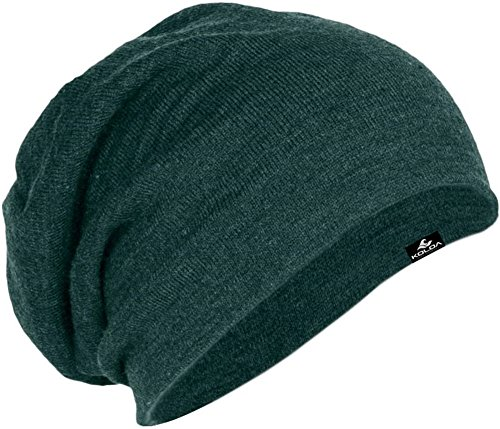 Koloa Surf Slouchy Beanie in 10 Colors,Forest Green Heather,One Size -