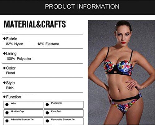Traje de baño de las señoras Traje de baño de moda bikini traje de dos piezas Bikini Multi - color