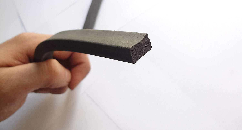 Esponja Sello de goma 3//64/de altura x 3//32 Ancho universal weatherstrip extrusi/ón tira de neopreno