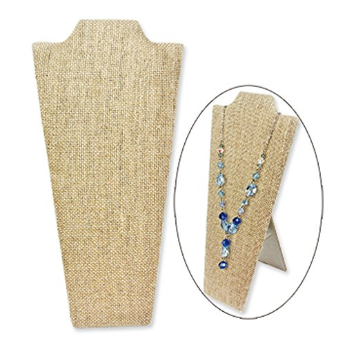 Ikee Design® 2 of Linen Covered Padded Wood Necklace Display With Easel 4 1/4