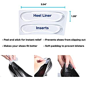High Heel Pads, Heel Liner Inserts, Ball Of Foot Insoles (12 PCS) - Foot Comfort, Blister Prevention For Women and Men, Heel Grips That Improve Shoes That Are Too Big