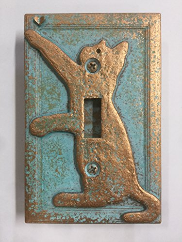 (Cat/Kitten Light Switch Cover (Aged Patina))