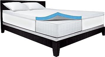 serta 25inch king gelmemory foam mattress topper