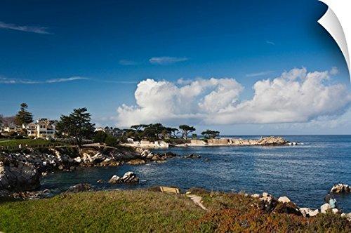 Canvas On Demand Wall Peel Wall Art Print Entitled Coastline  Monterey Bay  Monterey  California 48 X32