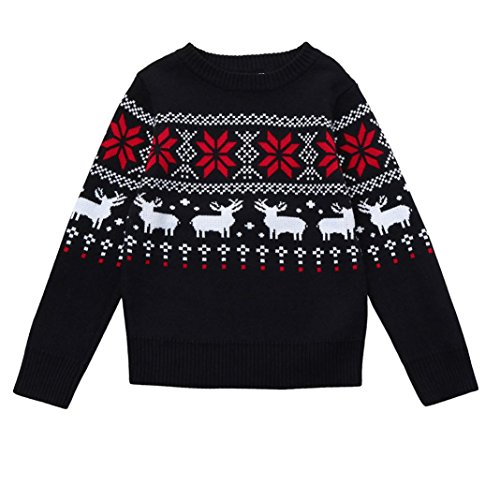 Toddler Christmas Deer Tops, TRENDINAO Boys Girls Xmas New Year Sweater Knit Clothes Shirt - In Tumblr Japan Christmas