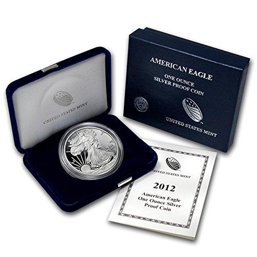 (2012 W American Silver Eagle With Velvet Box & COA 1 Proof US Mint)