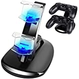 CPPSLEE PS4 Controller Charger Dock With IC,USB Dual Charger Station Accessory with LED Indicator for Playstation 4 / PS4 Slim Pro Controller (bulb)
