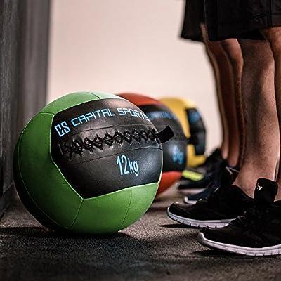 CapitalSports Wallba 6 Balón Medicinal de Cuero sintético (Peso 6 ...