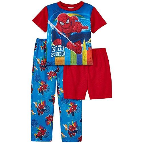 Marvel Spiderman Little Boys 3-Piece Pajama Set Red 2T