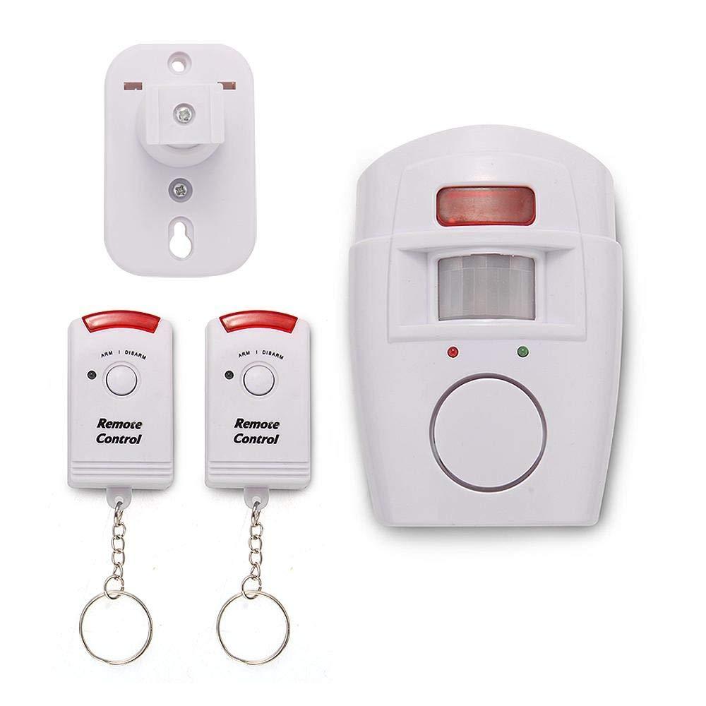 Antirrobo Alarma con sensor sirena 105 db con 2 mandos para casa oficina: Amazon.es: Bricolaje y herramientas
