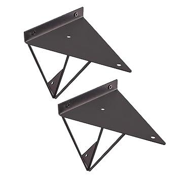 Soportes de Hierro para Retro,Escuadras De Metal Soporte Triangular,2 Piezas YFSS Soporte para Estanter/ías Incluye Tornillos De Montaje