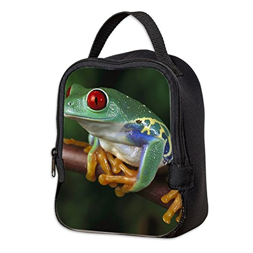 Neoprene Lunch Bag Red Eyed Tree Frog