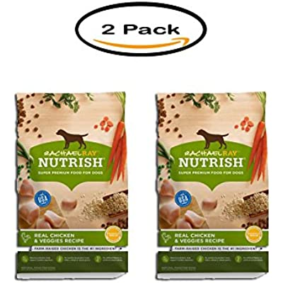 PACK OF 2 - Rachael Ray Nutrish Natural Dry Dog Food, Real Chicken & Veggies Recipe, 14 lbs