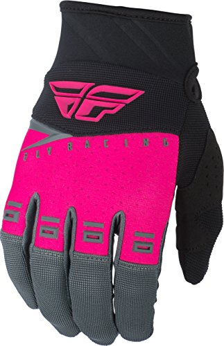 Fly Racing 2019 Youth F-16 Gloves (Large) (NEON Pink/Black/Grey) (Weather Grey Lynn)