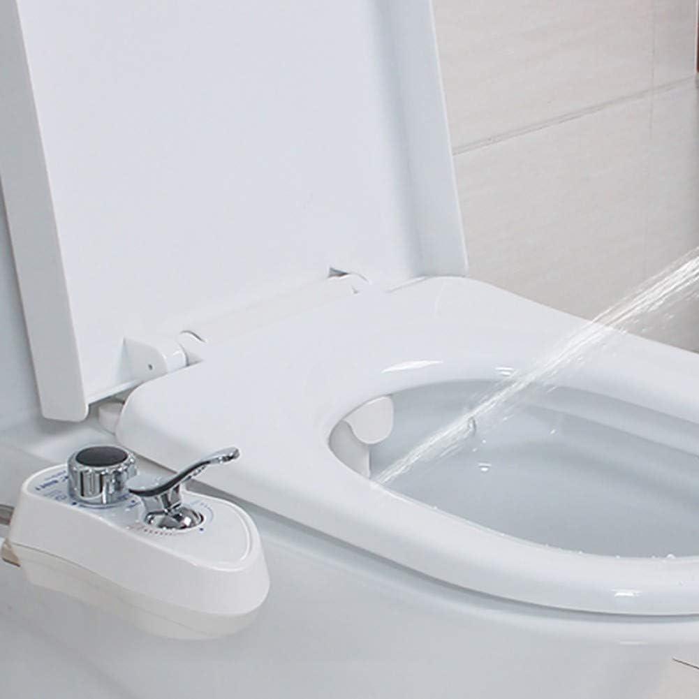 Abattant WC Japonais sans /électricit/é Bidet Nettoyeur de Toilettes Dual Nozzle Pression deau Ajustable Couverture de Toilette Intelligente