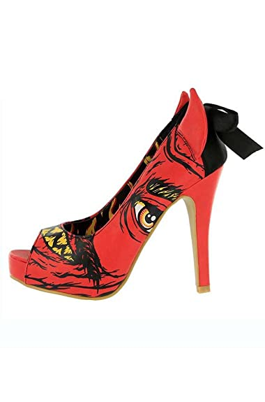 Amazon.com | Iron Fist Soul Stealer Platform Peep Toe Heel Shoes ...