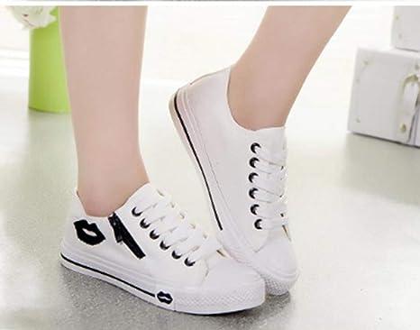 Donne Tela Bianca Sneakers Xingmu Casual Calzature Estate Scarpe jcSAL5R34q