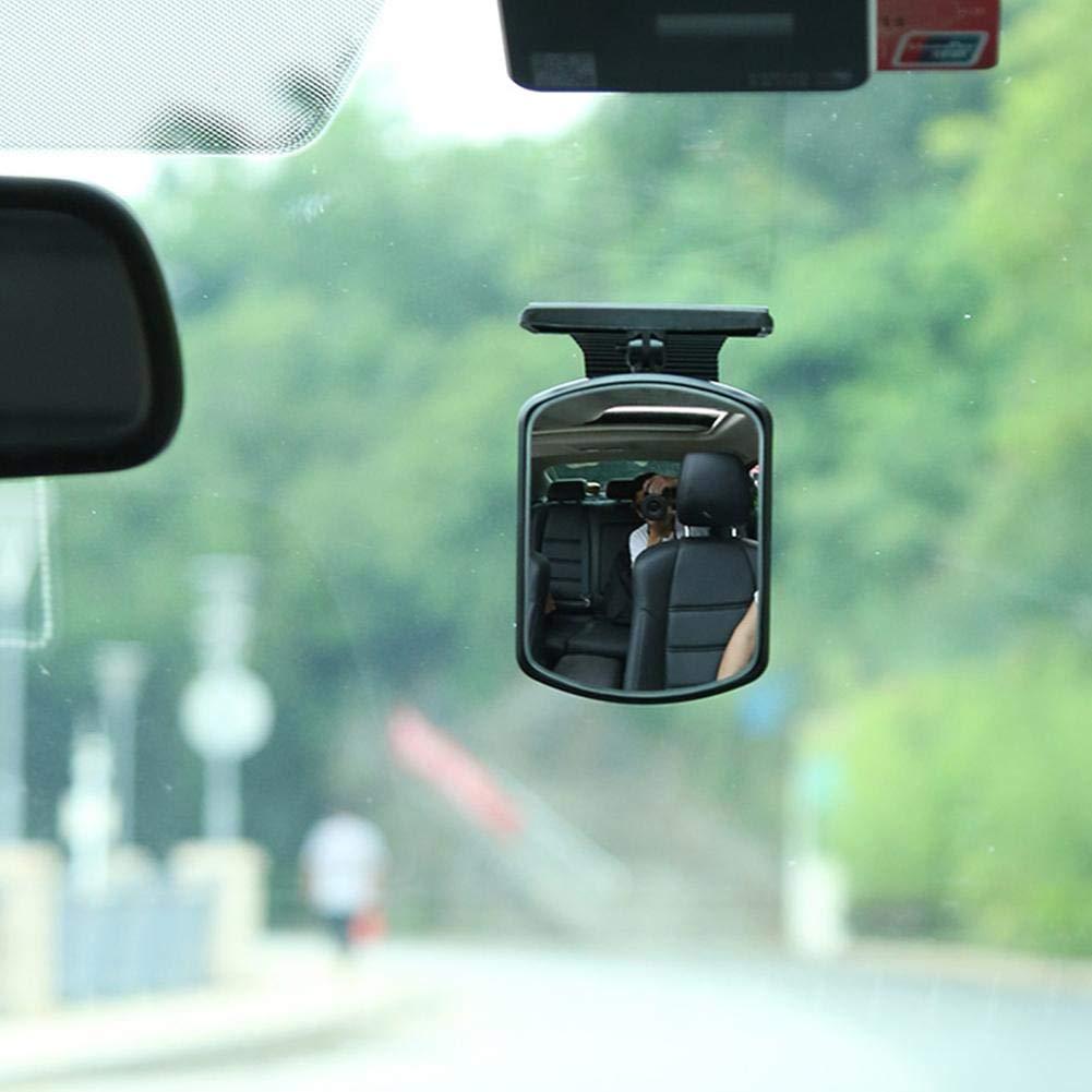 um 360 Grad drehbar Verstellbare Rotation sicherer Bruchsicherer Spiegel f/ür Baby bruchsicher Gereton Baby Auto-Spiegel