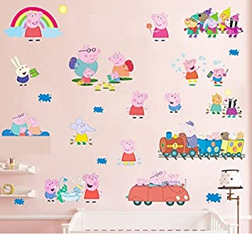 Peppa Pig Multi Pack Wall Sticker Removable Self Adhesive Mural Art