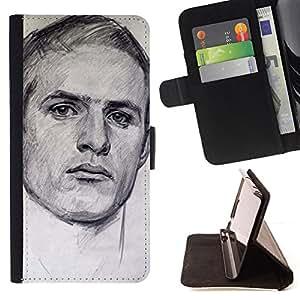 - Queen Pattern FOR Samsung Galaxy S5 V SM-G900 /La identificaci????n del cr????dito ranuras para tarjetas tir????n de la caja Cartera de cuero cubie - portrait man sports drawing